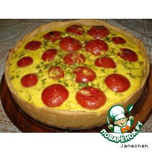 Рецепт: Киш с фаршированными помидорами