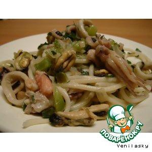 Рецепт: Паста с морепродуктами