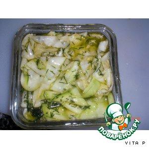 Рецепт: Маринованные кабачки