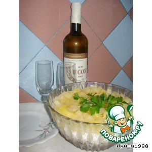 Рецепт: Салат Брызги шампанского
