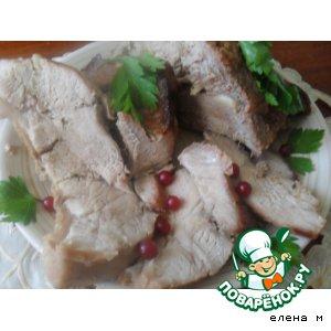 Рецепт: Запеченная свинина в смородиново-горчичном маринаде