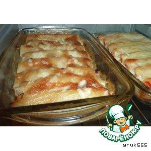 Рецепт: Каннеллони с овощами