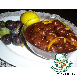 Рецепт: Варенье из инжира с лимоном