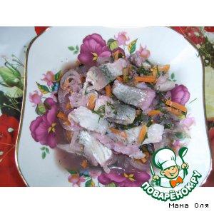 Рецепт: Пряная малосольная сельдь