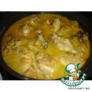 Рецепт: Цыпленок в соусе Пепитория