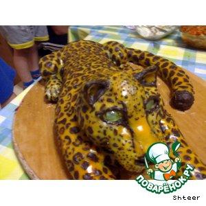 Рецепт: Медовый торт Леопард