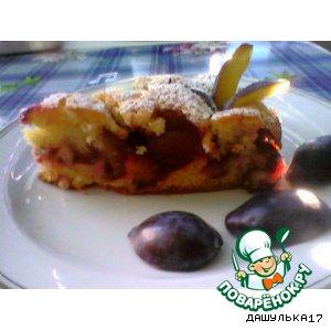 Рецепт: Пирог сливовый 30 слив