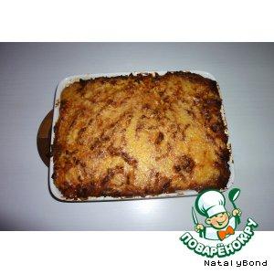 Рецепт: Запеканка из картофельного пюре с фаршем