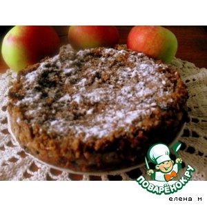 Рецепт Пирог из ржаного хлеба с яблоками