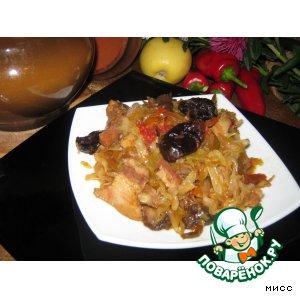 Рецепт: Бигос в горшочке Праздник урожая