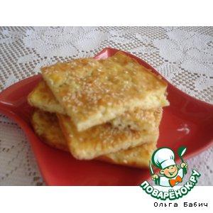 Рецепт: Сырно-баклажановая лепешка