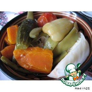 Рецепт: Овощное ассорти Маритуры