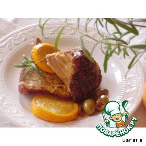 """Рецепт: Свинина с апельсинами и оливками  """"Мальорка"""""""