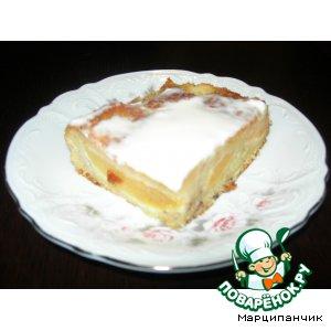 Рецепт: Бананово-персиковый пирог