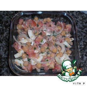 Рецепт: Португальский салат из нута