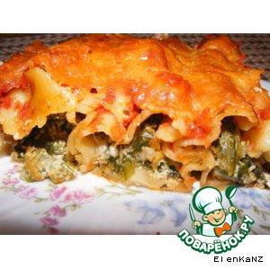 Рецепт: Каннеллони с грибами, шпинатом и рикоттой