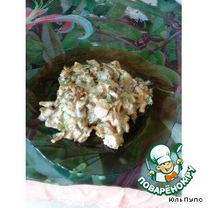 Рецепт: Грибные баклажаны