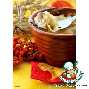 Рецепт: Рагу с грибами под картофельной крышечкой
