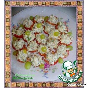 Рецепт: Закуска из помидоров с сыром
