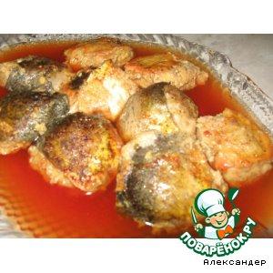 Рецепт: Фаршированная рыба по-еврейски в тефтелях Гефилте фиш
