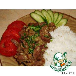 Рецепт: Кучимачи-жаркое из свиного языка, сердца и печени