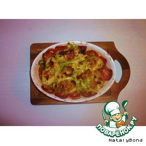 Рецепт: Запеченная картошка в масле, сыре и меде