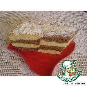 Рецепт: Творожный кекс с какао