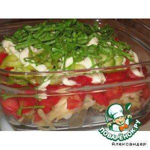 Рецепт: Салат из рыбы Летний вечер