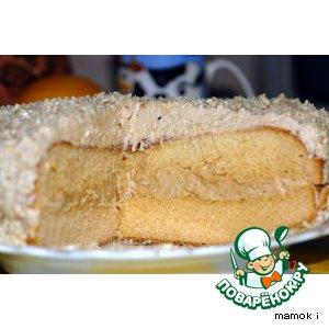 Рецепт: Торт Северный с кофейным кремом