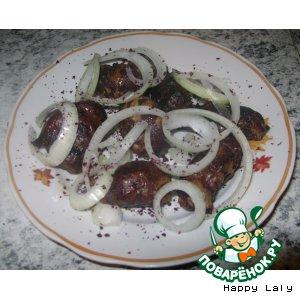 Рецепт: Бараньи почки и печень в бараньей сетке