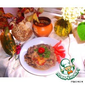 Рецепт: Запеканка а-ля Мусака в горшочках