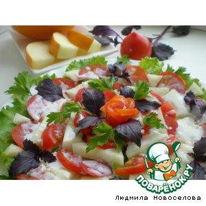 Рецепт: Салат с дыней и помидором