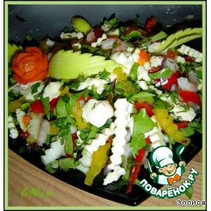 Рецепт: Салат Цветовая гамма
