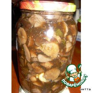 Рецепт: Маринованные грибы, как в собственном соку