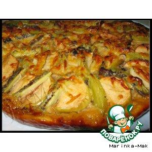 Рецепт: Яблочная пицца с киви