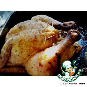 Рецепт: Курица с сыром и травами