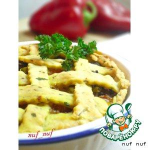 Рецепт: Пирог с говядиной и карри
