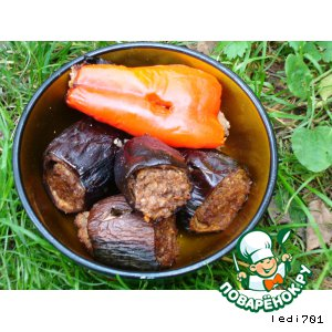 Рецепт: Люля-кебаб в овощах