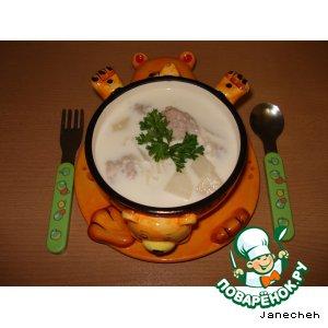 Рецепт: Молочный суп с фрикадельками