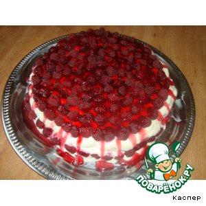 """Рецепт: Торт """"Малиновый рай"""""""