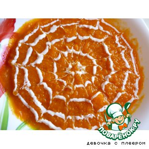 Рецепт: Суп-пюре из тыквы и моркови