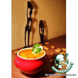 """Рецепт: Красный суп с арахисом """"Тени Африки"""""""