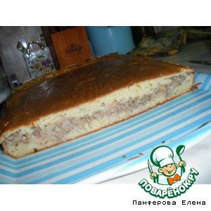 Рецепт: Пирог рыбный на кефире