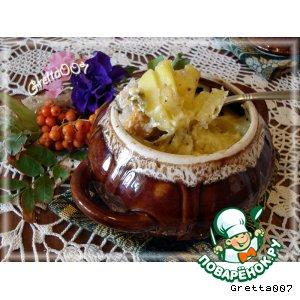 Рецепт: Горшочек с мясом и овощами Семейный ужин