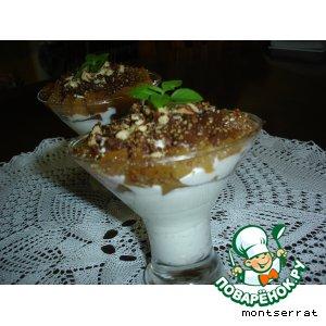 Рецепт: Творожный десерт с айвой и шоколадом