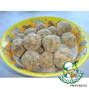 Рецепт: Конфеты изюмно-ореховые