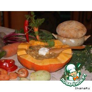 Рецепт: Закуска из мяса, сыра и овощей