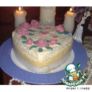 """Рецепт: Торт """"Наслаждение"""""""