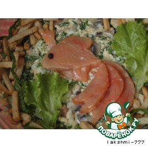 """Рецепт: Салат """"Золотая рыбка"""""""