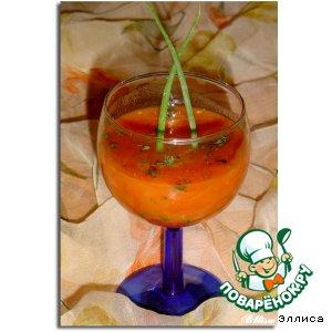 Рецепт Томатный напиток с огурцом